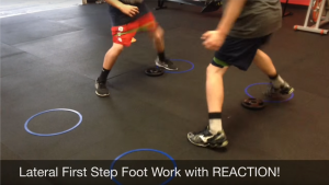 Lateral first step drill to add speed and agility for volleyball players