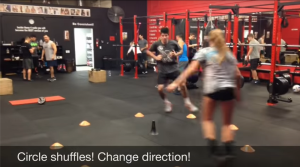 Circle shuffle run drill for lateral quickness for volleyball players