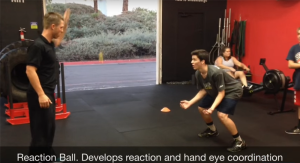 Reaction ball drill to develop reaction and hand eye coordination for volleyball players